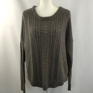 Old Navy Gray Knit Long Sleeve Sweater